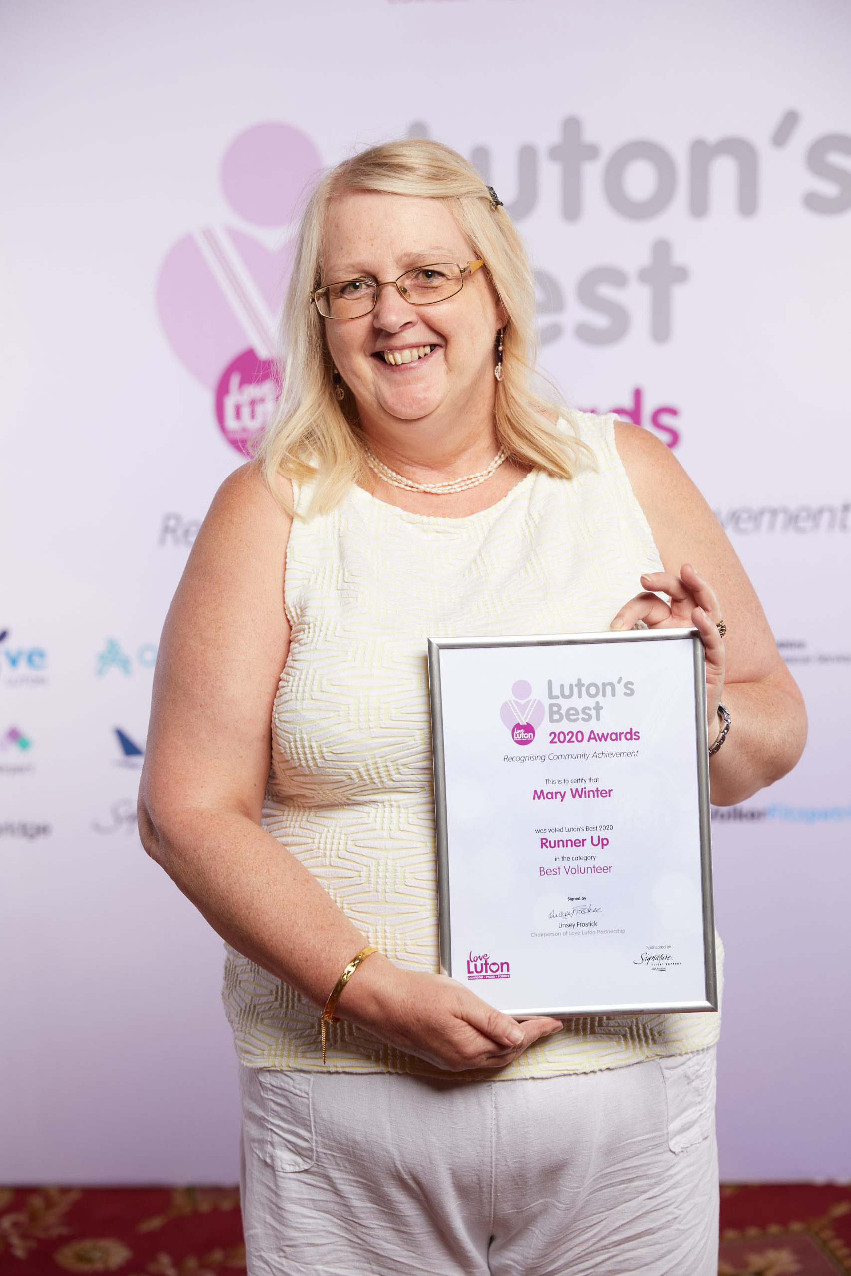 Best Volunteer Mary Winner Runner up
