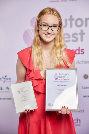 Child of Courage Joint Winner Evie Gormley