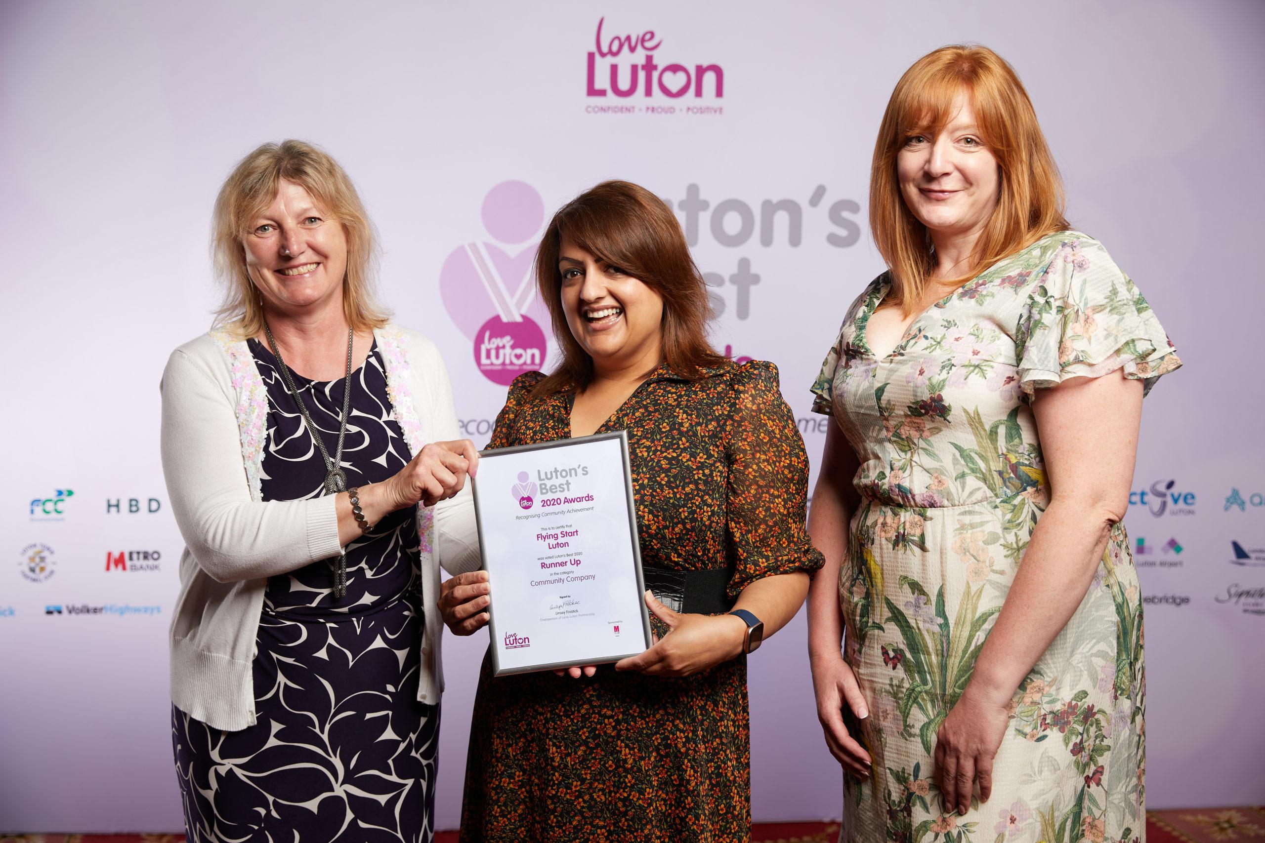 Community Company Flying Start Luton Runner up