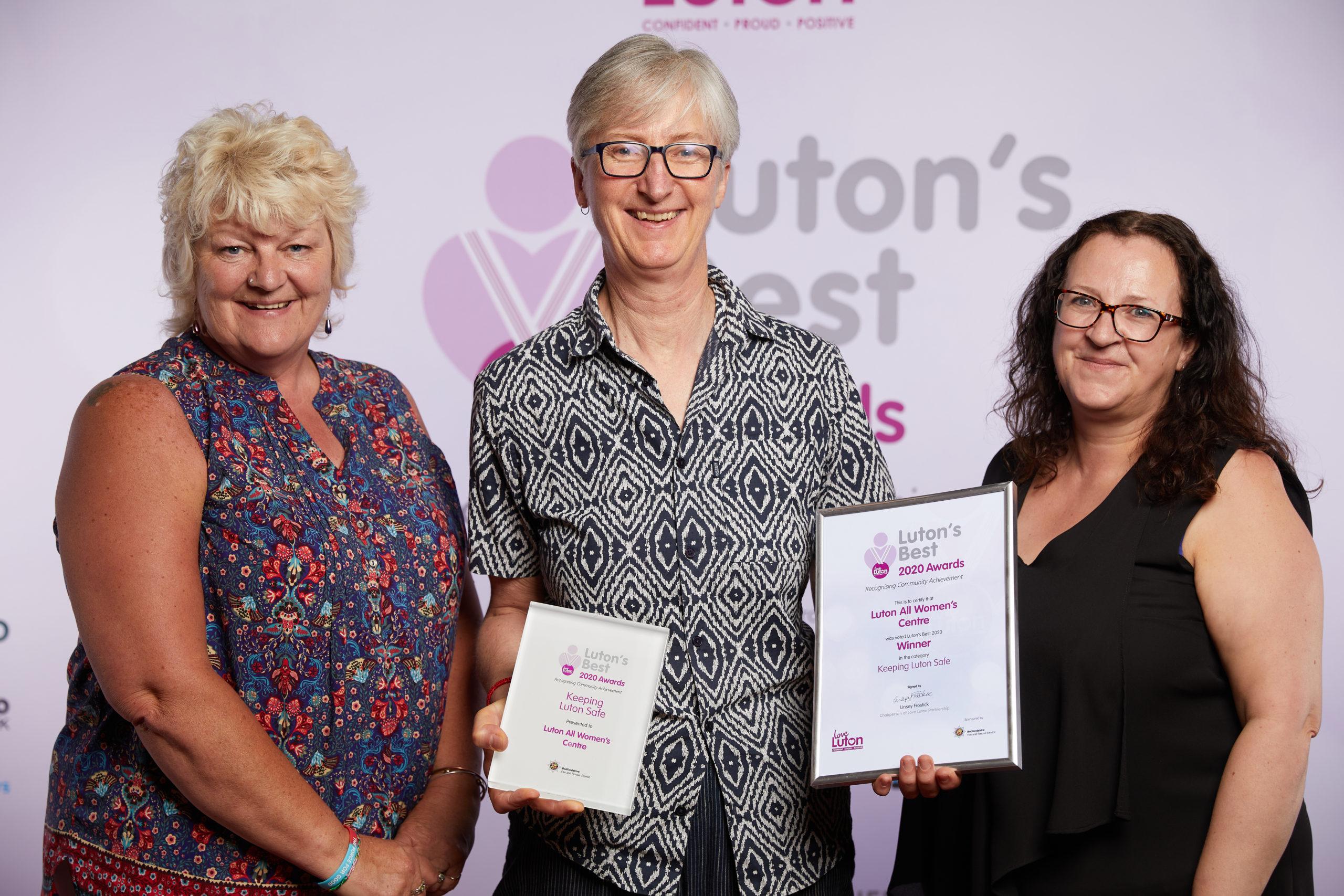 Keeping Luton Safe Luton all Women's Centre Winner
